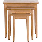 more details on Schreiber Pentridge Nest of 3 Tables - Oak.
