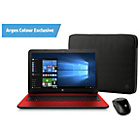 "more details on HP 15.6"" Intel Pentium 4GB 1TB Laptop - Red."