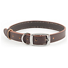 more details on Heritage Diamond Brown Leather Dog Collar - Medium.