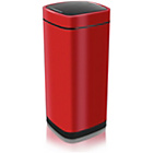 more details on Addis 40 Litre Deluxe Press Top Square Bin - Red.