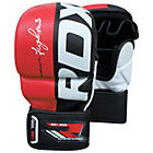more details on RDX Large to XLarge Mixed Martial Arts Training Gloves - Red
