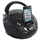 more details on Bush Portable CD Boombox with Ipod Docking - Black.
