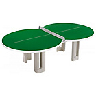 more details on Butterfly Figure Eight Concrete Table Tennis - Green.