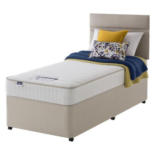 Buy silentnight stroud memory single divan bed at for Silentnight divan