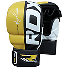 more details on RDX Large to XLarge Mixed Martial Arts Gloves - Yellow.