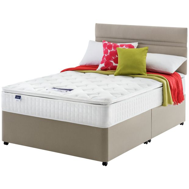 Buy silentnight stanfield pillowtop double divan at your online shop for divan Argos single divan beds