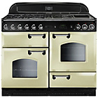 more details on Rangemaster Classic 110 Dual Fuel Range Cooker - Cream.