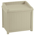 more details on Suncast 83 Litre Storage Seat - Taupe.