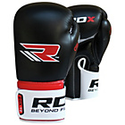 more details on RDX Leather 12oz Boxing Gloves - Red.