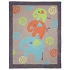 more details on Kiddy Play Elephants Rug - 80x100cm - Multicoloured.