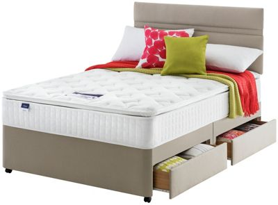 Buy Silentnight Cranborne Pocket Memory Kingsize 4 Drawer Divan At Your Online