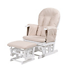 more details on Kub Haywood Reclining Glider and Footstool - White.