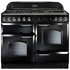 more details on Rangemaster Classic 110 Dual Fuel Range Cooker - Black.