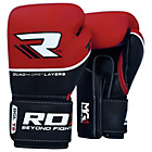 more details on RDX Quad Kore 16oz Boxing Gloves - Red.