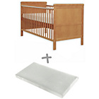 more details on Baby Elegance Alex Cot Bed with Mattress - Pine.