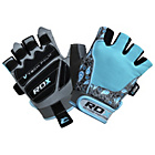 more details on RDX Ladies' Medium to Large Fitness Gloves - Blue.