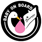 more details on Dreambaby Adhesive Pink Baby on Board Signs - Pack of 2.