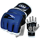 more details on RDX Leather Medium to Large Mixed Martial Arts Gloves - Blue