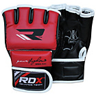 more details on RDX Leather Medium to Large Mixed Martial Arts Gloves - Red.