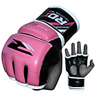 more details on RDX Leather Medium to Large Mixed Martial Arts Gloves - Pink