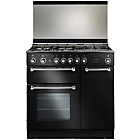 more details on Rangemaster RM90 Dual Fuel Range Cooker - Black.