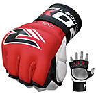 more details on RDX Leather 7oz Mixed Martial Arts Gloves - Red.