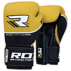 more details on RDX Quad Kore 14oz Boxing Gloves - Yellow.