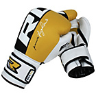 more details on RDX Leather 12oz Boxing Training Gloves - Yellow.