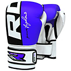 more details on RDX Leather 12oz Boxing Training Gloves - Blue.