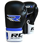 more details on RDX Leather 14oz Boxing Gloves - Blue.