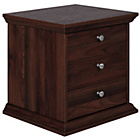 more details on Canterbury 3 Drawer Bedside Chest - Walnut effect