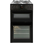 Beko BDV555AK Double Electric Cooker - Black
