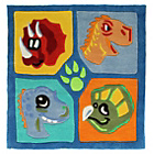 more details on Kiddy Play Dino Rug - 90x90cm - Multicoloured.