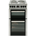 Beko BDV555AS Double Electric Cooker - Silver