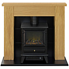 more details on Adam Electric Stove Suite - Oak and Black.