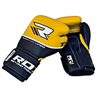 more details on RDX Quad Kore 12oz Boxing Gloves - Yellow.