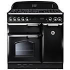 more details on Rangemaster Classic 90 Dual Fuel Range Cooker - Black.