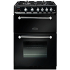 more details on Rangemaster Kitchener Double Gas Cooker - Black.