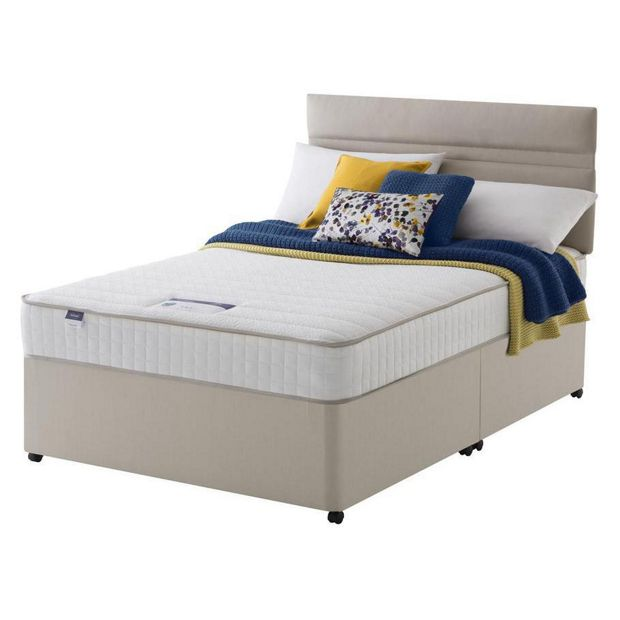 Buy silentnight stroud memory small double divan bed at for Small double divan bed with headboard
