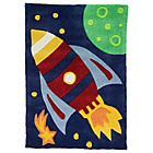 more details on Kiddy Play Rocket Rug - 70x100cm - Multicolured.
