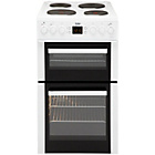 Beko BDV555AW Double Electric Cooker - White