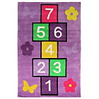 more details on Kiddy Play Hopscotch Rug - 70x100cm - Multicoloured.
