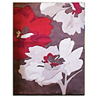 more details on Flourish Rug - 120x170cm - Chocolate and Red.