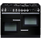 more details on Rangemaster Professional 110 Dual Fuel Range Cooker - Black.