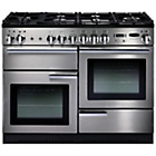 more details on Rangemaster Professional 110 Dual Fuel Range Cooker-S/Steel.
