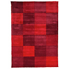 more details on Geo Blocks Rug - 120x170cm - Red.