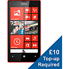 more details on O2 Nokia Lumia 520 Mobile Phone - Red.