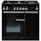 more details on Rangemaster Professional 90 Dual Fuel Range Cooker - Black.
