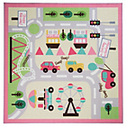 more details on Kiddy Town Map Girls Rug - 133x133cm - Multicoloured.