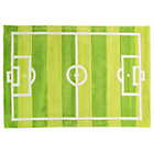 more details on Kiddy Play Football Pitch Rug - 110x160cm - Green.